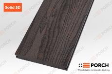 """Террасная доска Porch Solid """"Dark Coffee"""" 18*140*2200мм."""