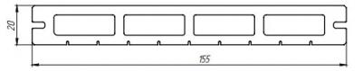 Террасная доска Tardex Lite Premium Натур